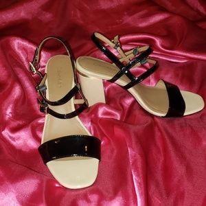 Calvin Klein Patent Heeled Sandals